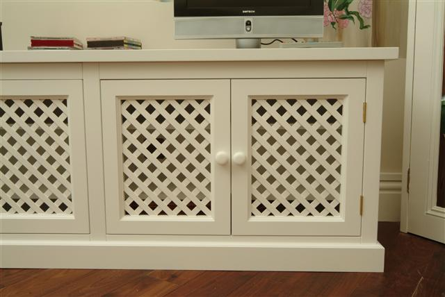 Tv Stand W Doors Component Heat Issues Hometheater & Lattice Door - Sanfranciscolife