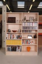 Two bay bookcase